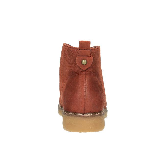 Dámská kotníčková obuv s barevnou podšívkou bata, oranžová, 599-5605 - 17