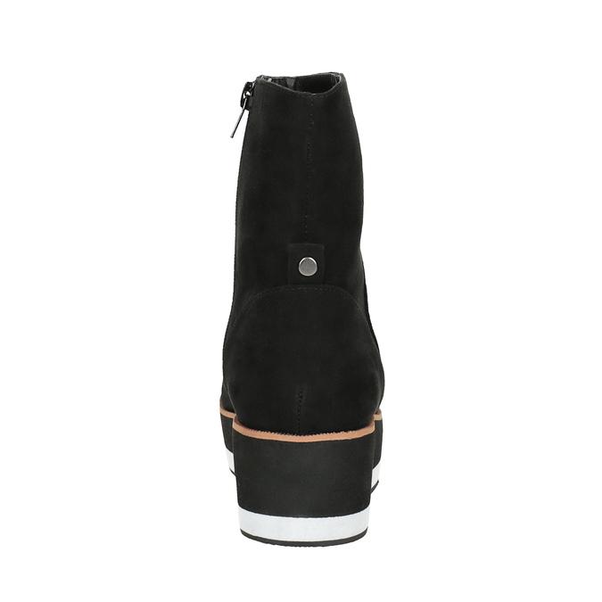 Kotníčková obuv na flatformě bata, černá, 699-6601 - 17