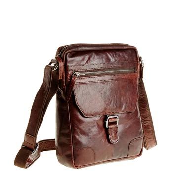 Pánská kožená  Crossbody taška bata, hnědá, 964-4180 - 13