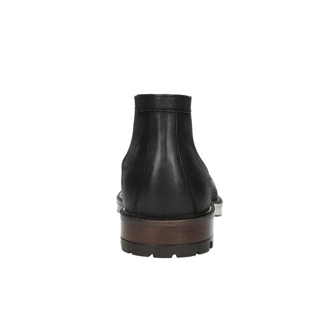Kožená kotníčková obuv pánská bata, černá, 826-6642 - 17