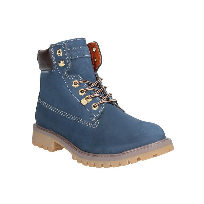 Dámská kožená obuv modrá weinbrenner, modrá, 596-9629 - 13