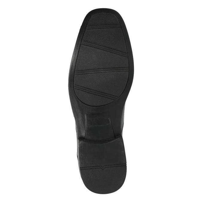Černé kožené polobotky bata, černá, 824-6743 - 26