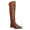 Hnědé kožené kozačky ke kolenům bata, hnědá, 594-4605 - 13
