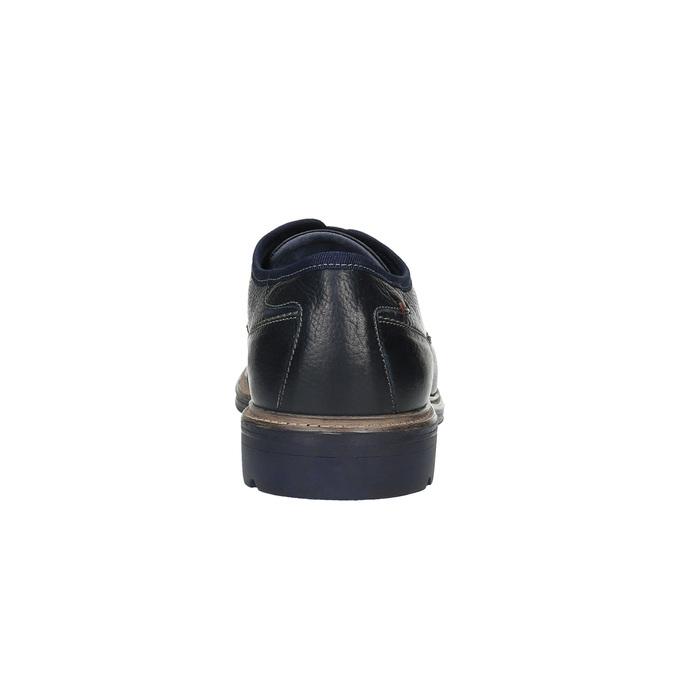 Kožené ležérní polobotky modré bata, modrá, 824-9699 - 17