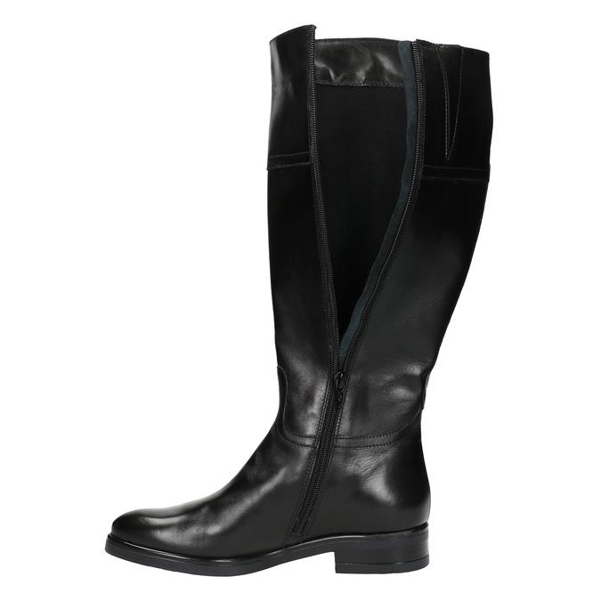 Kožené dámské kozačky bata, černá, 594-6606 - 19