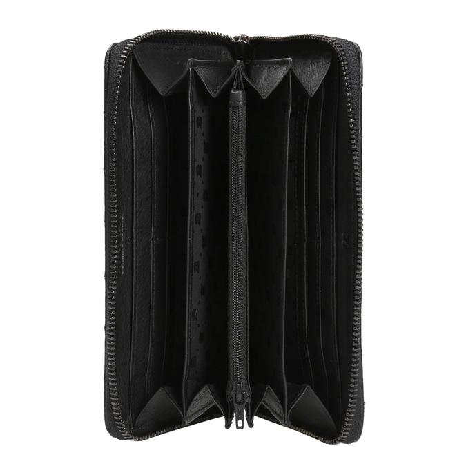 Dámská kožená peněženka s prošíváním bata, černá, 944-6164 - 15