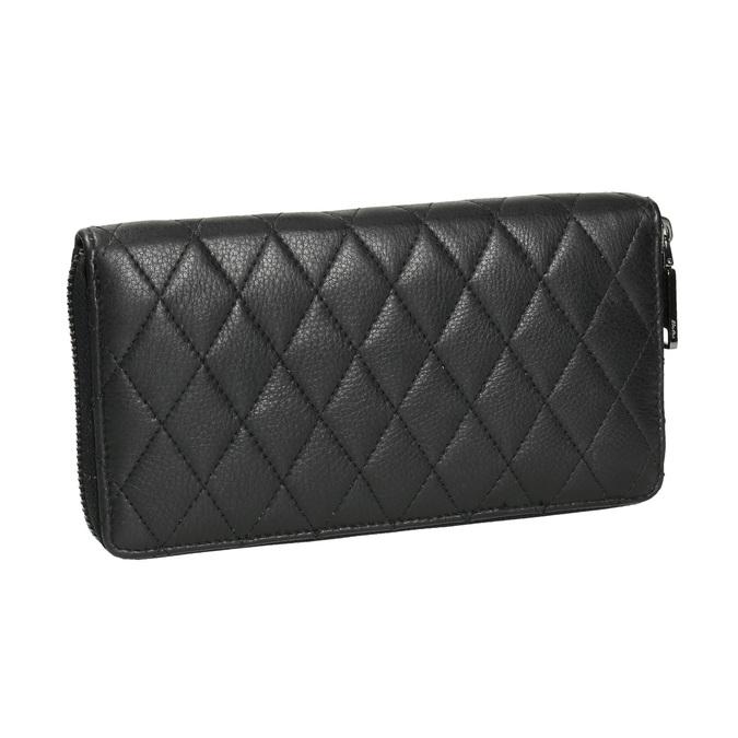 Dámská kožená peněženka s prošíváním bata, černá, 944-6164 - 13