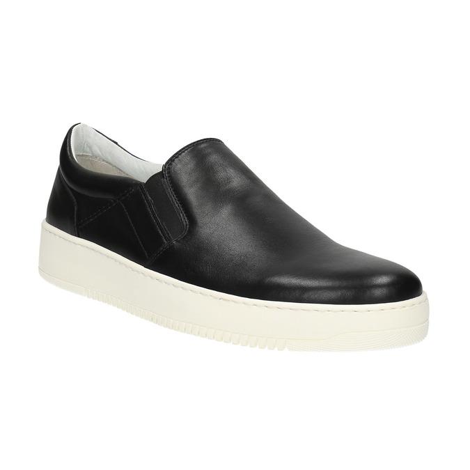 Pánské kožené Slip-on bata, černá, 844-6630 - 13
