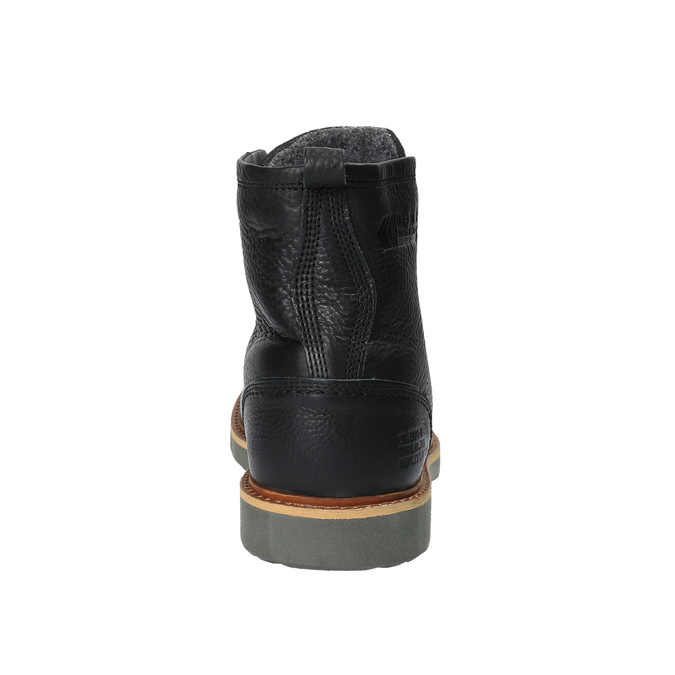 Kožená kotníčková zimní obuv bata, černá, 894-6659 - 17