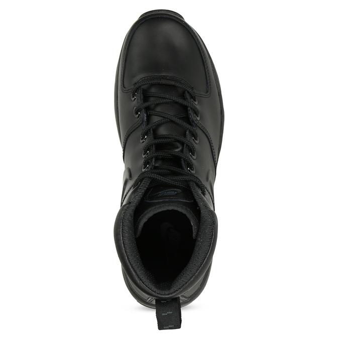 Kožená pánská kotníčková obuv nike, černá, 806-6435 - 17