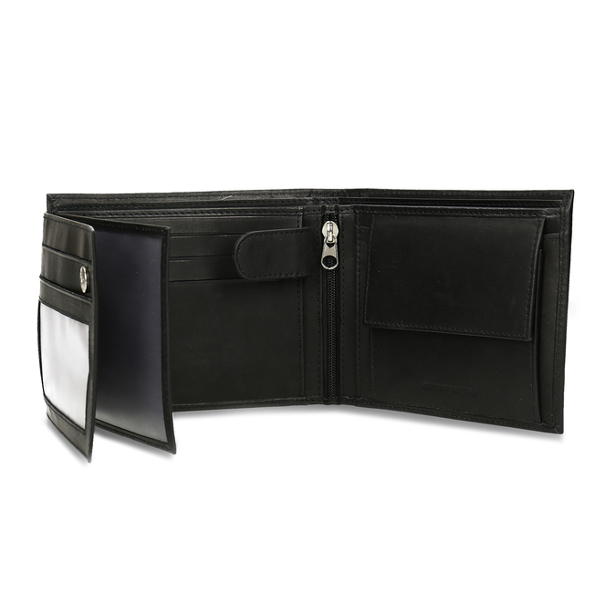 Pánská kožená peněženka bata, černá, 944-6171 - 15
