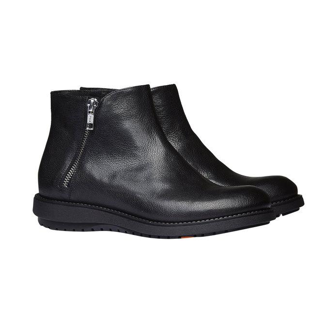 Kožená kotníčková obuv flexible, černá, 594-6227 - 26