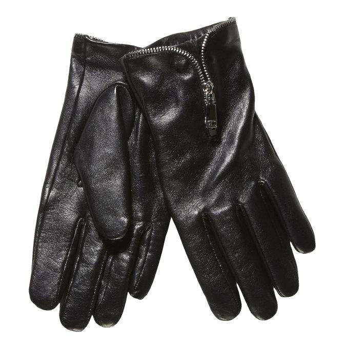 Dámské kožené rukavice se zipem bata, černá, 904-6111 - 13