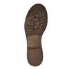 Kožená zimní obuv s kožíškem manas, hnědá, 596-4600 - 26