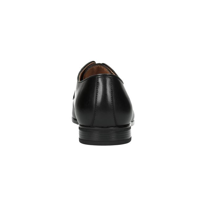 Pánské kožené polobotky černé bata, černá, 824-6771 - 17