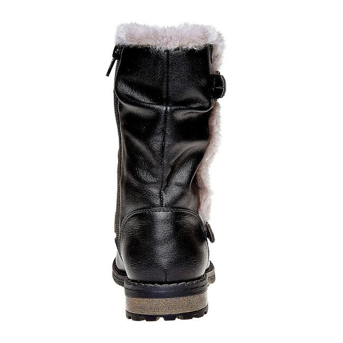 Dětské zimní kozačky mini-b, černá, 391-6245 - 17