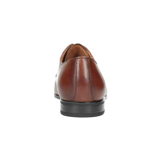 Hnědé kožené polobotky Derby bata, hnědá, 826-3771 - 17
