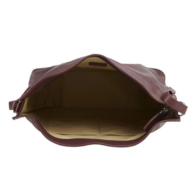Kožená kabelka elega, fialová, 964-5170 - 15