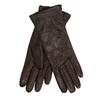 Tmavě hnědé kožené rukavice junek, hnědá, 924-4049 - 13