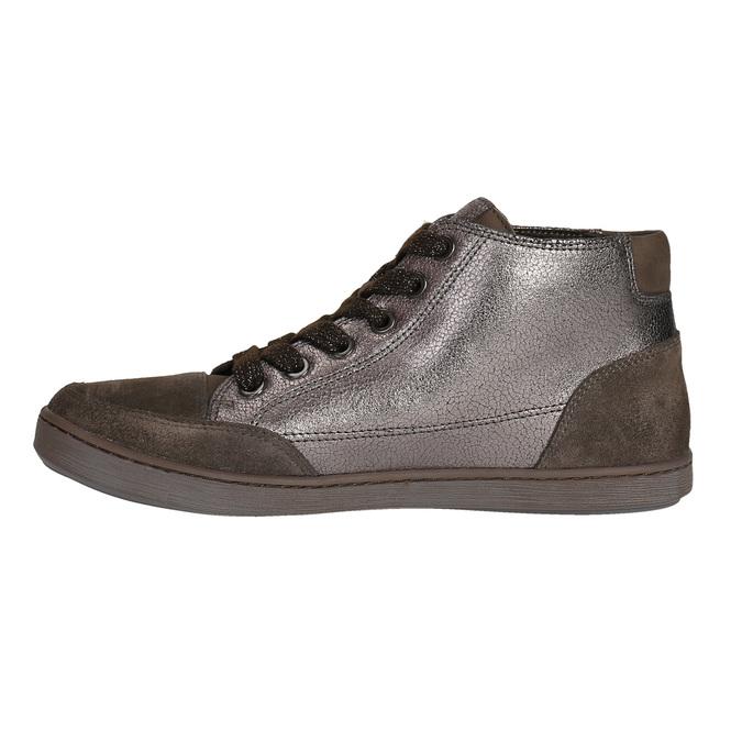 Dámské kožené kotníčkové tenisky bata, hnědá, 596-4613 - 26