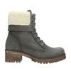 Šedá dámská kožená zimní obuv se zateplením weinbrenner, šedá, 696-2168 - 26