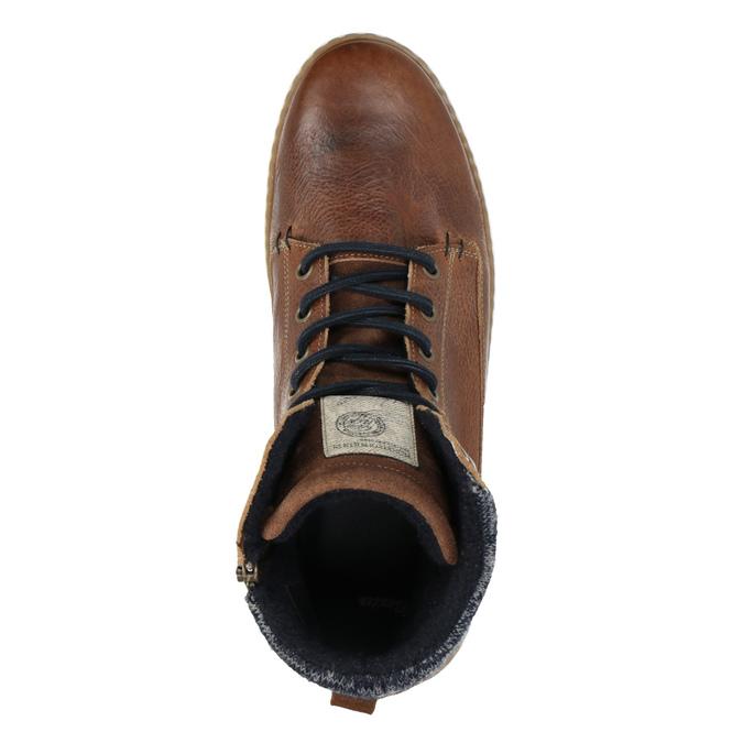 Pánské kotníčkové tenisky bata, hnědá, 846-3615 - 19