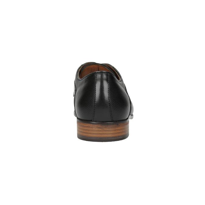 Černé celokožené polobotky pánské bata, černá, 826-6778 - 17