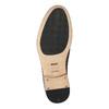 Celokožené polobotky s pleteným vzorem bata, hnědá, 826-3775 - 26