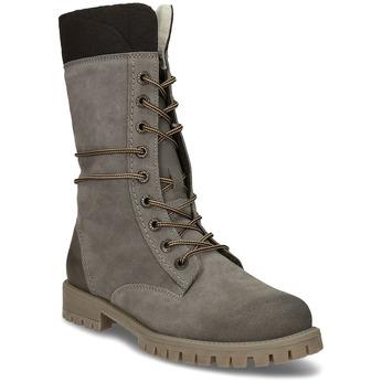 Dámská zimní obuv šněrovací weinbrenner, šedá, 593-2476 - 13