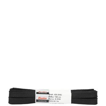 Široké černé tkaničky bata, černá, 901-6140 - 13