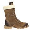 Dámská zimní obuv s kožíškem weinbrenner, hnědá, 593-8476 - 26