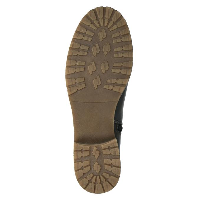 Kožené kozačky s masivní podešví bata, černá, 594-6613 - 26