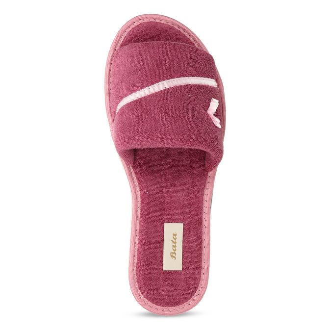 Dámské pantofle s mašličkou bata, růžová, 579-5609 - 17