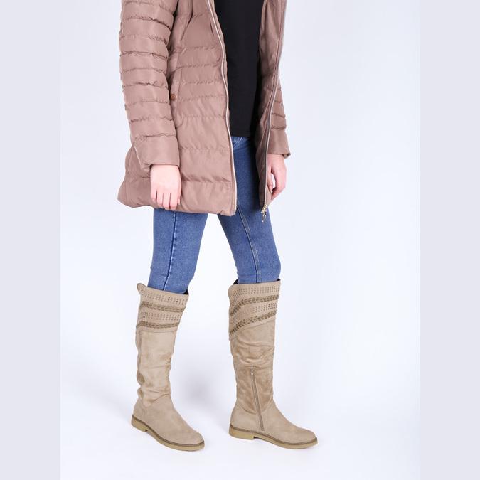 Kozačky nad kolena bata, béžová, 599-2602 - 18