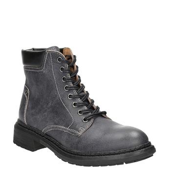 Dámská kožená kotníčková obuv weinbrenner, šedá, 596-6632 - 13