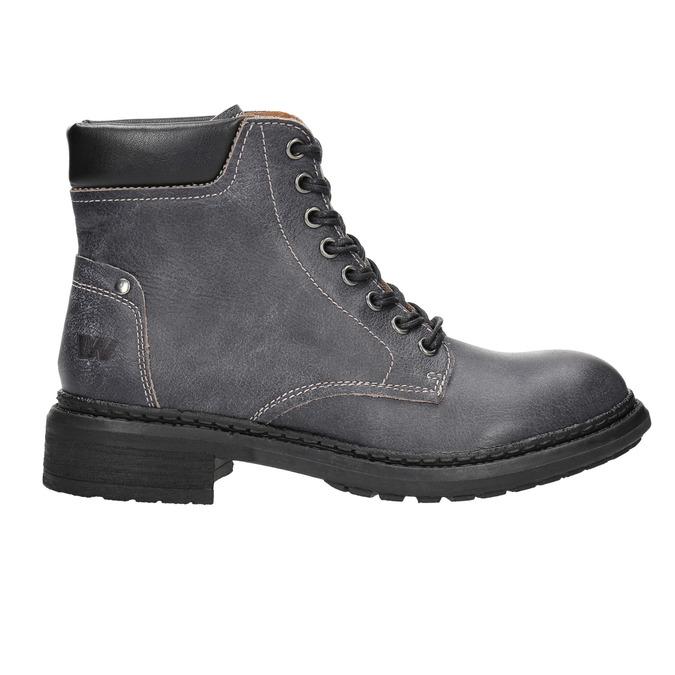 Dámská kožená kotníčková obuv weinbrenner, šedá, 596-6632 - 15