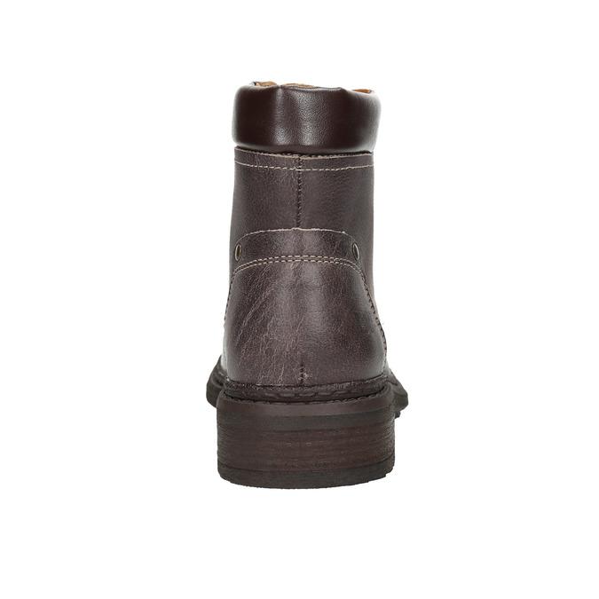 Dámská kožená kotníčková obuv weinbrenner, hnědá, 596-4632 - 17