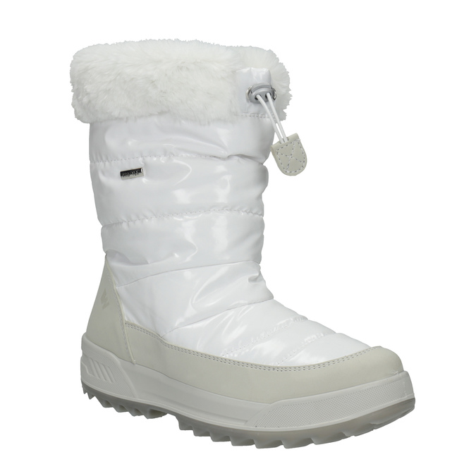 Dámské bílé sněhule s kožíškem weinbrenner, bílá, 591-1617 - 13