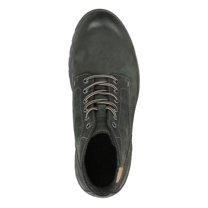 Kožená pánská kotníčková obuv weinbrenner, šedá, 896-2107 - 19