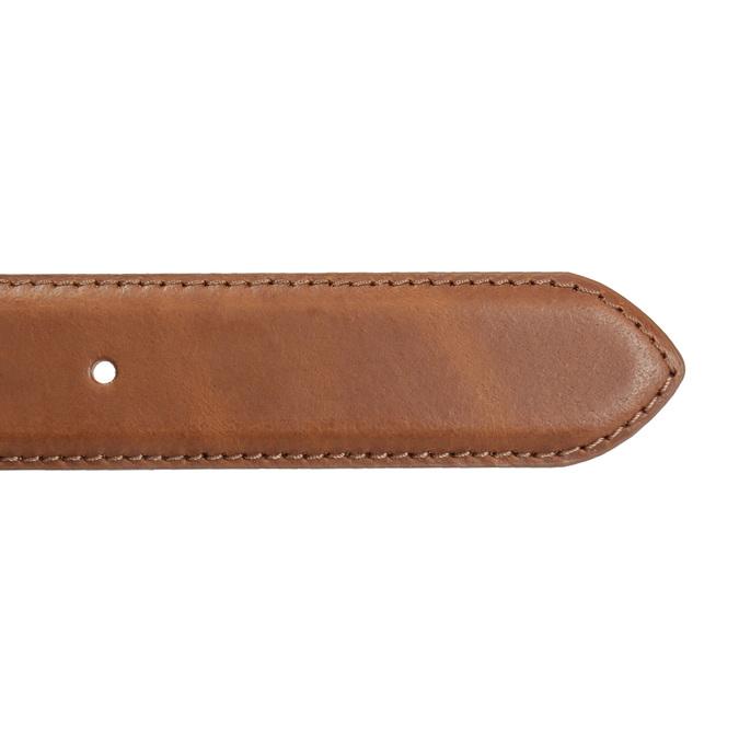 Pánský kožený opasek hnědý bata, hnědá, 954-4153 - 16