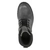Kožené kotníčkové boty na výrazné podešvi weinbrenner, šedá, 896-2110 - 19