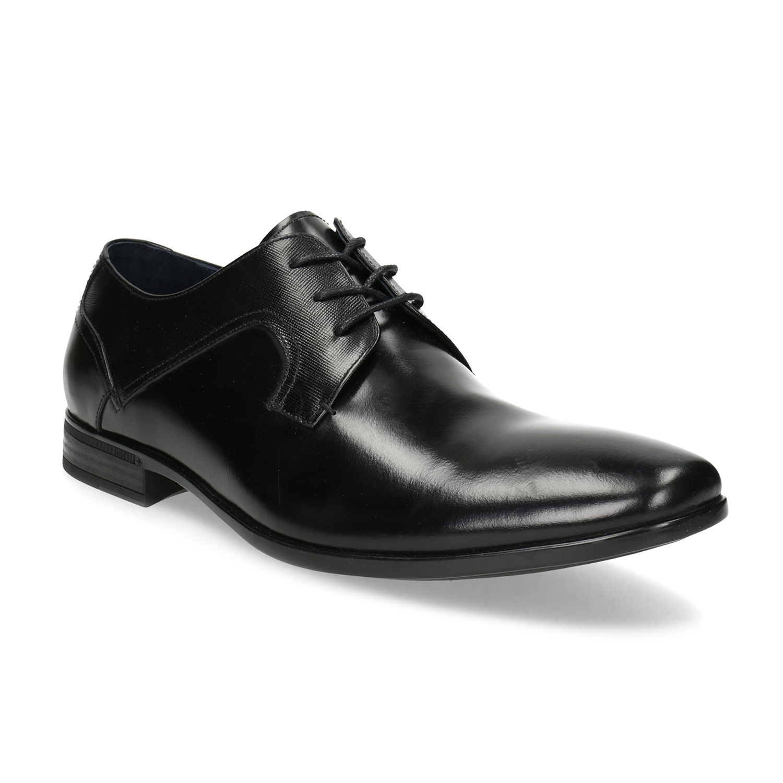 Baťa Kožené černé pánské polobotky - Všechny boty  08f019b281