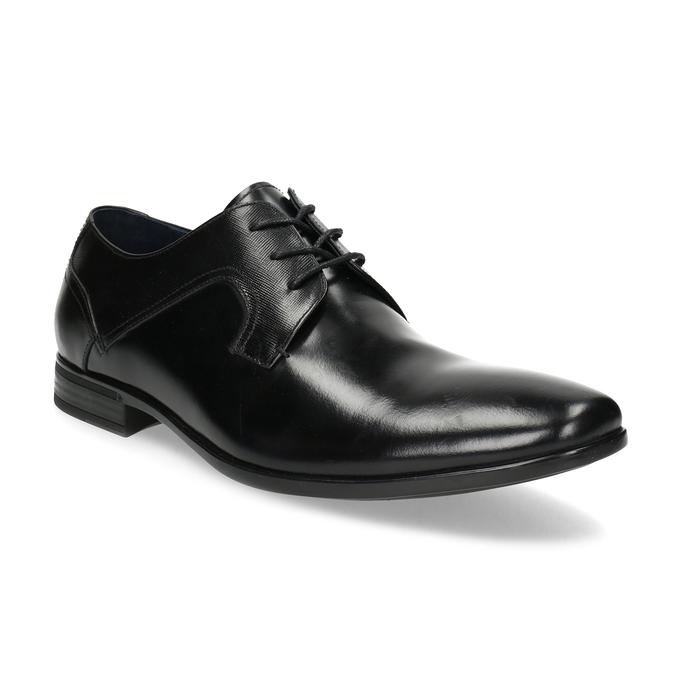 Kožené černé pánské polobotky bata, černá, 824-6758 - 13