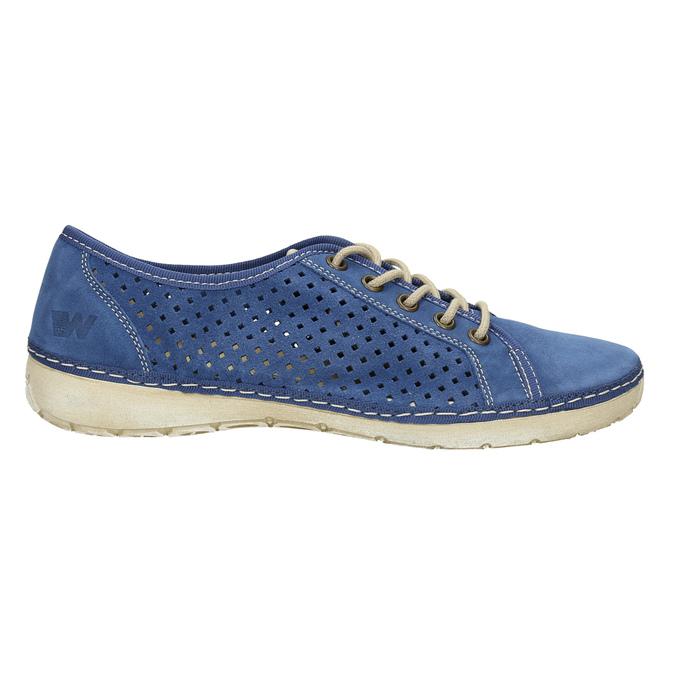Kožené tenisky weinbrenner, modrá, 546-9238 - 15