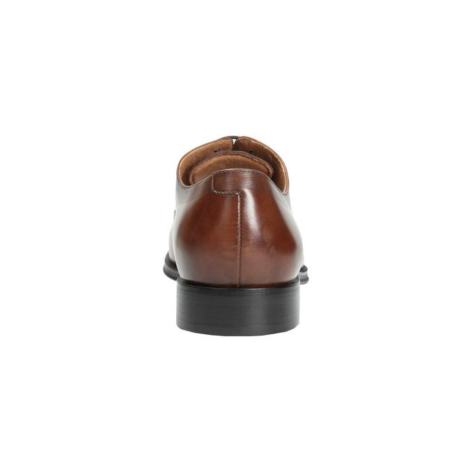 Hnědé kožené polobotky v Oxford střihu bata, hnědá, 826-3810 - 17