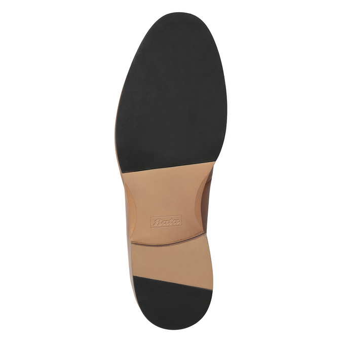 Pánské kožené polobotky na silnější podešvi bata, hnědá, 826-3809 - 19