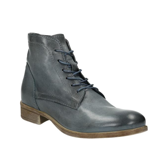 Kožená kotníčková obuv modrá bata, modrá, 2021-596-9646 - 13