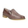 Dámské kožené Loafers bata, hnědá, 2021-516-3603 - 13