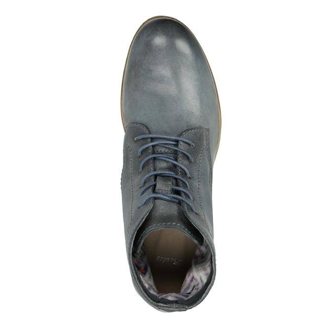 Kožená kotníčková obuv modrá bata, modrá, 2021-596-9646 - 19