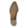 Kožené kotníčkové kozačky s perforací bata, modrá, 596-9647 - 26